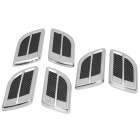 OB-66 Air Outlet Style Decorative Stickers for Car - Silver + Carbon (6 PCS)
