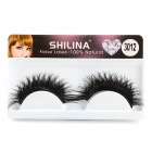 Handmade Cosmetic Makeup Dual-layer Dense Eyelashes - Black (Pair)