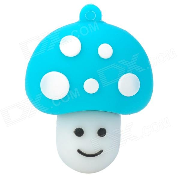 Cute Cartoon Mushroom Shape USB 2.0 Flash Drive Disk - Blue + White (8GB)