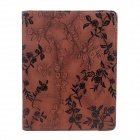 Rose Pattern PU Leather Smart Case w/ Swivel Stand for Ipad 2 / 3 / 4 - Brown
