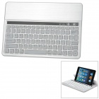 Universal Rechargeable Bluetooth V3.0 84-Key Keyboard for Samsung Tablet PC / iPad - White + Silver