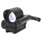 Aluminum Alloy Red / Green Dot Laser Reflex Gun Aiming Scope Sight for 21mm Rail - Black