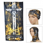 Multifunctional Outdoor Polyester Scarf - Black + Yellow