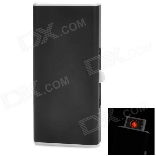 Aluminum Alloy + Plastic 250mAh USB Rechargeable Cigarette Lighter - Black