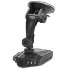 "Portable 2.5"" TFT CMOS 300KP Wide Angle Car DVR w/ 6-LED IR Night Vision - Black"