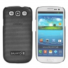 Mesh Pattern Protective Aluminum Alloy Back Case for Samsung i9300 - Black