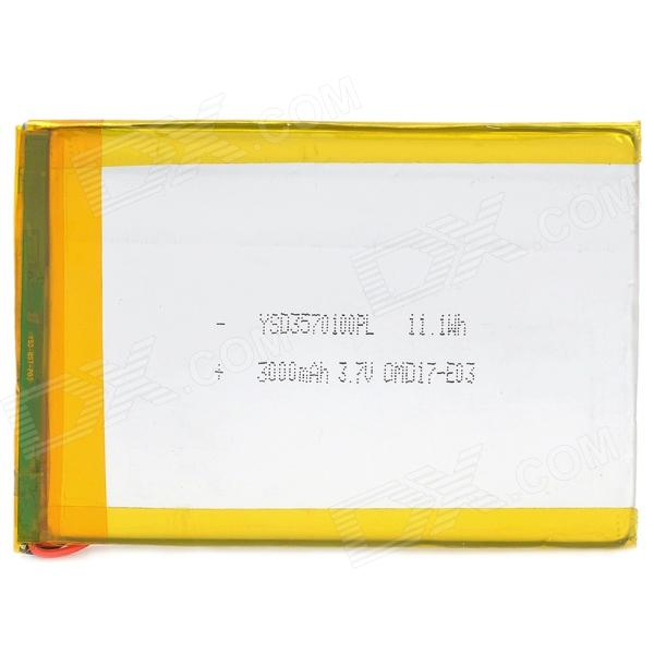 3570100 3.7V 3000mAh Lithium Polymer Battery for Tablets / MP3 / MP4 + More - Silver стоимость