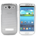 Mesh Pattern Protective Aluminum Alloy Back Case for Samsung i9300 - Silver