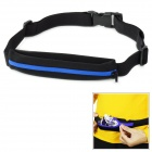 Outto Outdoor Sports Running Mini Zipper Elastic Belt Bag - Black + Blue