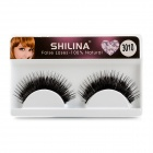 Natural Dual Layers Cosmetic Makeup Eyelashes - Black (Pair)