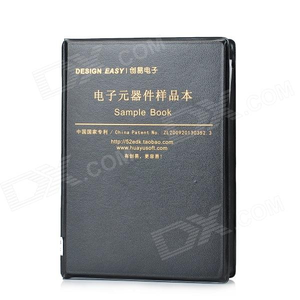 0805 Pratical SMD Resistor Capacitor Sample Book - Black (80 Types / 3725 PCS) dinosaur jr dinosaur jr i bet on sky