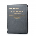 0805 Pratical SMD Resistor Capacitor Sample Book - Black (80 Types / 3725 PCS)