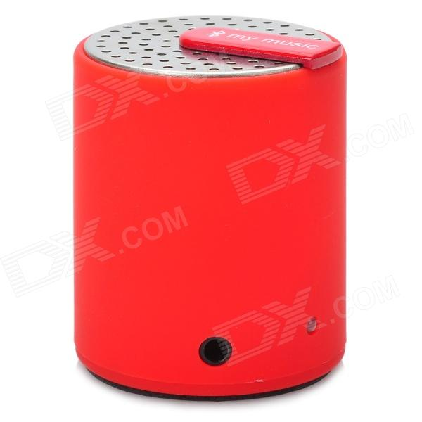 KTS-07 Stylish Mini Bluetooth V2.0 2.0W Stereo Speaker for Iphone / Ipad - Silver + Red + Black