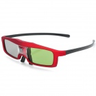 QX01R Universal USB Rechargeable 3D Active Shutter Glasses for DLP Projectors - Black + Red