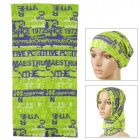 Multifunctional Outdoor Polyester Scarf - Green