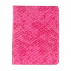 Protective Snake Skin PU Leather Smart Case for Ipad 2 / 3 / 4 - Deep Pink