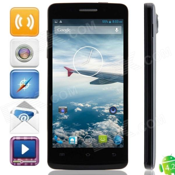 "Bedove HY5001 MTK6589 Quad-Core 4.2.1 Android Phone WCDMA Bar w / 5.0"" IPS HD, Wi-Fi et GPS - noir"