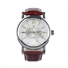 ORKINA A001-BW Fashion  Men's Quartz Wrist Watch w/ Week / Calendar - Brown + Silver (1 x LR44)