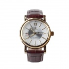 MG.ORKINA MG024-BW Fashionable Men's Analog Quartz Wrist Watch - Brown + Golden + White (1 x LR44)