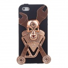 Skeleton Style Silicone Protective Back Case for iPhone 5 - Black + Bronze