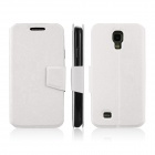 ENKAY Protective PU Leather Case Cover w/ Stand Function for Samsung Galaxy S4 / i9500 - White