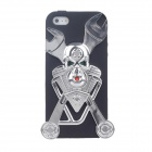 Skeleton Style Silicone Protective Back Case for Iphone 5 - Black + Silver