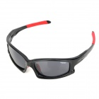 CARSHIRO 077 UV400 Protection Cycling Polarized Resin Lens Sunglasses - Black + Red