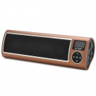 "SEE ME HERE LV520-III Portable 1.5"" LCD Stereo Speaker w/ FM / SD - Coffee + Black + Silver"