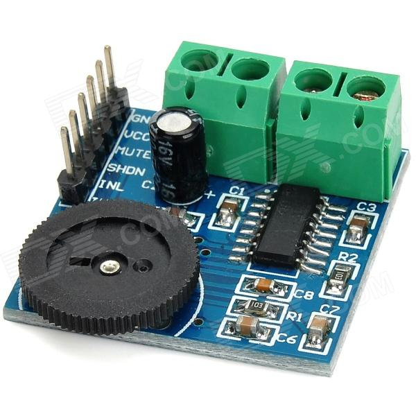 PAM8403 Dual Channel Mini Digital Audio Amplifier Board w/ Volume Control - Black + Green + Blue