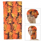Multifunctional Outdoor Polyester Scarf - Black + Orange