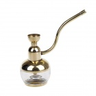 Cool God Brass Filtered Magnetized Water Tabacco Hookah Shisha Water Pipe - Golden