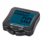 "Coolchange 1.5"" Glow-in-the-dark Waterproof Stopwatch for Bike Bicycle - Black (1 x 2032 battery)"