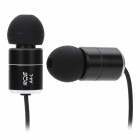 R E A4-L Stylish Aluminum Alloy Stereo In-Ear Earphones - Black (3.5mm Plug / 120cm-Cable)