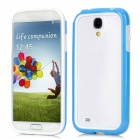 Protective Bumper Frame for Samsung Galaxy S4 i9500 - White + Blue