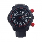 Super Speed V6 A0017-BW Stylish Men's Quartz Wrist Watch - Black + White (1 x LR626)