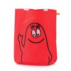 S7009 Cute Cartoon Pattern Hanging Storage Bag - Red + Black + White
