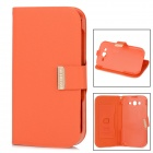 KALAIDENG Protective PU Leather Case w/ Holder for Samsung Galaxy Grand Dous i9082 - Orange