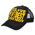 Fashion Hip-Hop Style Outdoor Travel Casual Cap / Hat - Black + Yellow