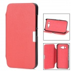 Protective PU Leather Case w/ Holder for Xiaomi MI-2 - Red
