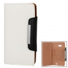 KALAIDENG Protective PU Leather Case for HUAWEI Ascend Mate 6.1 - White + Black