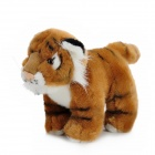 Cute Soft Plush Little Tiger Doll Toy - Brown + White + Black