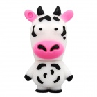 Cartoon Cow Style USB 2.0 Flash Drive - Black + White + Pink (4 GB)