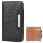 KALAIDENG Protective PU Leather Case for HUAWEI Ascend Mate 6.1 - Black