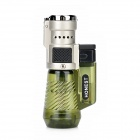 HONEST 363-1 Windproof Triple Flame Butane Jet Lighter - Green + Black + Silver
