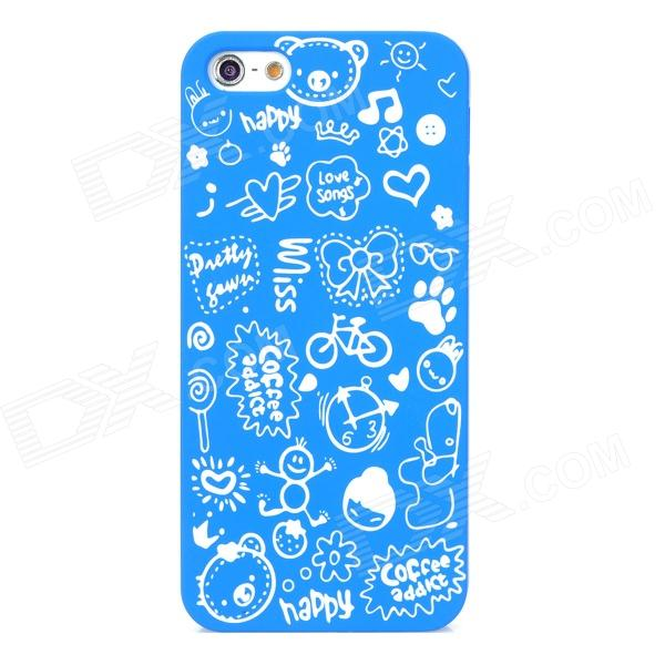 Cartoon Patterns Protective Hard Back Case for Iphone 5 - Blue защитный чехол pacha sunrise cherries hard case для iphone 5