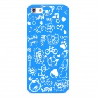 Cartoon Patterns Protective Hard Back Case for Iphone 5 - Blue