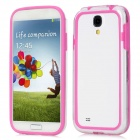 Protective Bumper Frame for Samsung Galaxy S4 i9500 - Deep Pink + Transparent