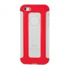Detachable 2-in-1 Protective TPU Back Case for iPhone 5 - Red + Translucent White