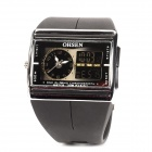 OHSEN Fashionable Digital + Analog Quartz Men's Wrist Watch - Black (1 x CR2032)
