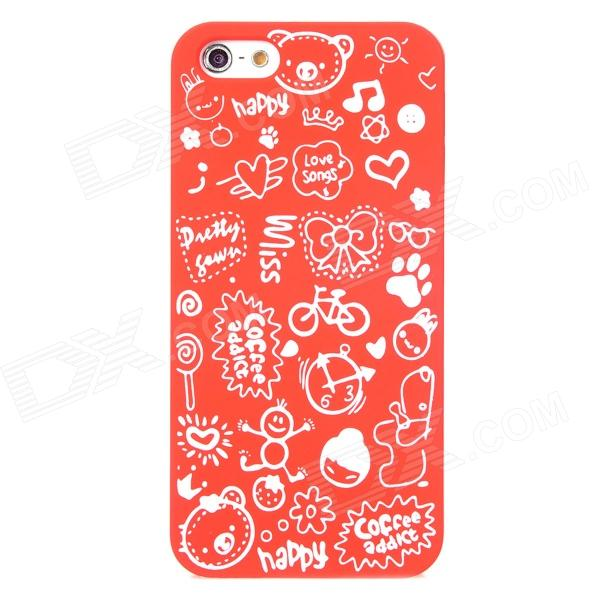 Cartoon Patterns Protective Hard Back Case for Iphone 5 - Red защитный чехол pacha sunrise cherries hard case для iphone 5